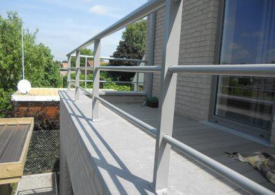 Aluminium maatwerk balustrade West-Vlaanderen