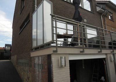 Aluminium maatwerk balustrade Roeselare