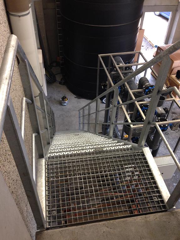 Constructie trap in inox