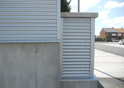 Constructiewerken aluminium bekleden muur met aluminium 2