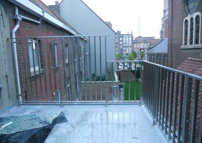 Inox balustrade West-Vlaanderen