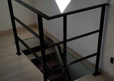 Balustrade trap staal zwart