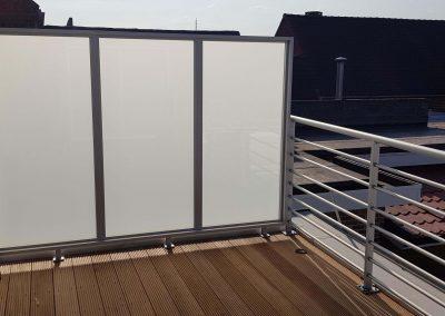 Aluminium balustrade en afscherming - NDR Constructies