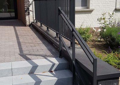 Zwarte aluminium balustrade - NDR Constructies